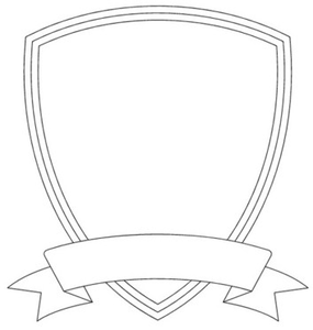 Shield Template Image Family crest.
