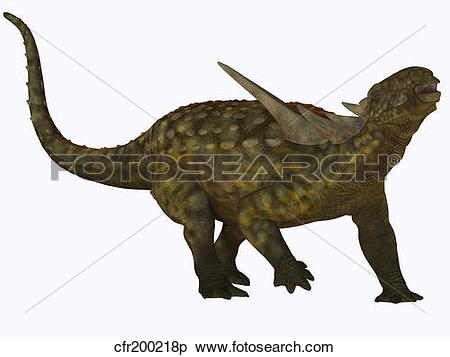 Stock Illustration of Sauropelta, a herbivorous dinosaur from the.