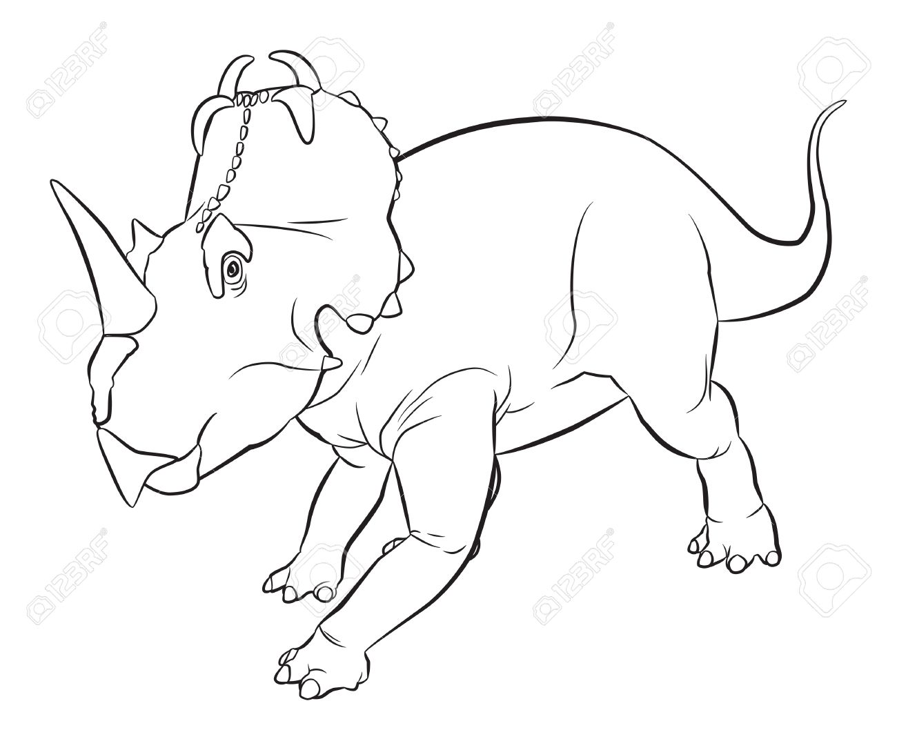 The Centrosaurus Dinosaur Lived During The Late Cretaceous Period.