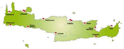 Crete Map Clipart.