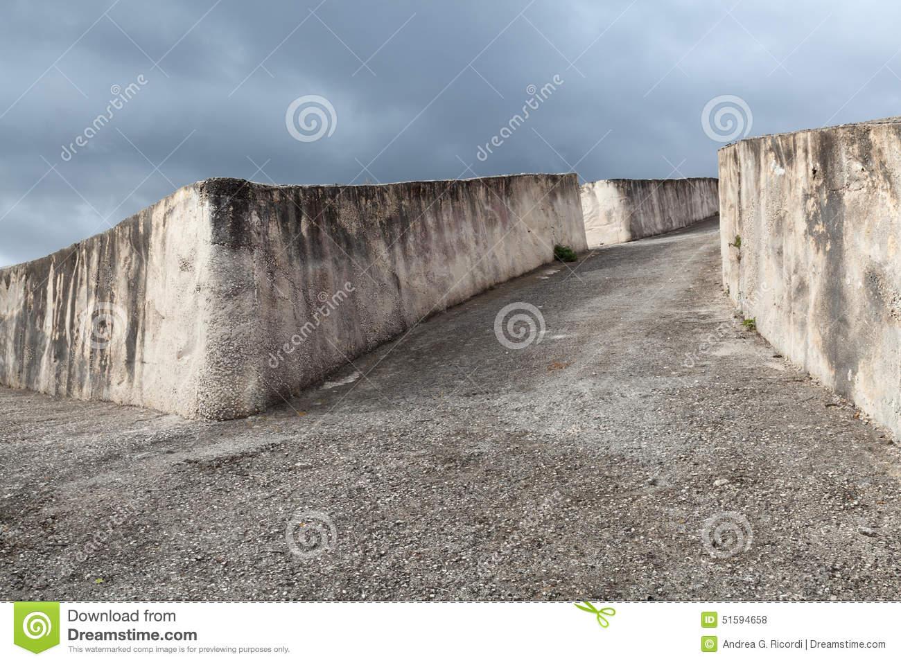 Cretto Di Burri, Concrete Work Of Art In Sicily Stock Photo.