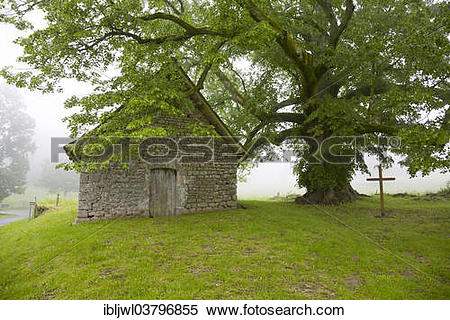 "Stock Image of ""Chapelle du Mas St. Jean, near Saint."