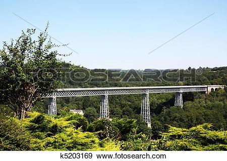 Stock Photograph of Busseau Viaduct Creuse France k5203169.