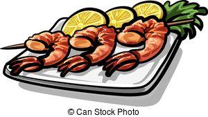 Illustrations et Cliparts de Crevettes. 6 082 dessins et.