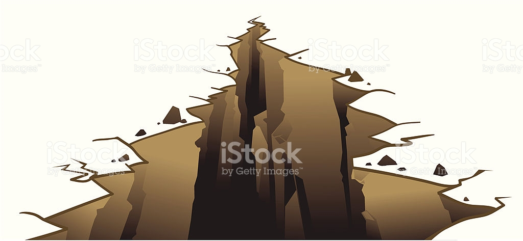 Crevice On Earths Surface stock vector art 165678943.