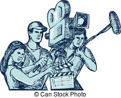 Film crew Clip Art and Stock Illustrations. 263 Film crew EPS.