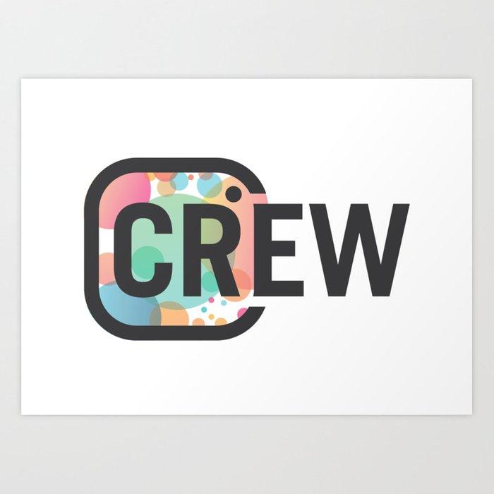 CR Crew Logo Art Print.