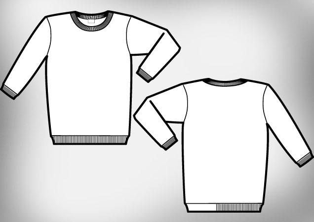 Sweat shirt template.