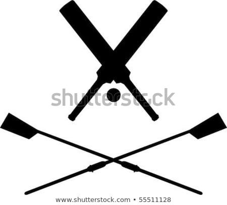 Rowing Oars Free Vector Art.