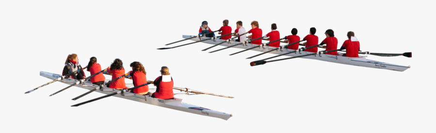 5 Person Rowing Boat , Free Transparent Clipart.
