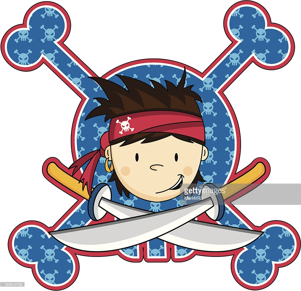 Cute Pirate Crewman Icon Vector Art.