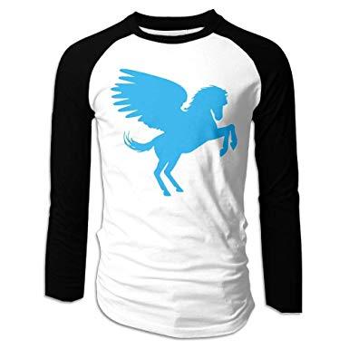 Amazon.com: FSKH@@ Pegasus Clipart Men\'s Crewneck Long.