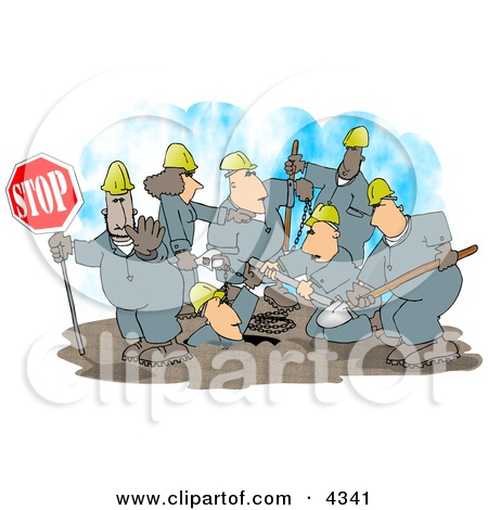 Construction Crew Clipart by Dennis Cox #4341.