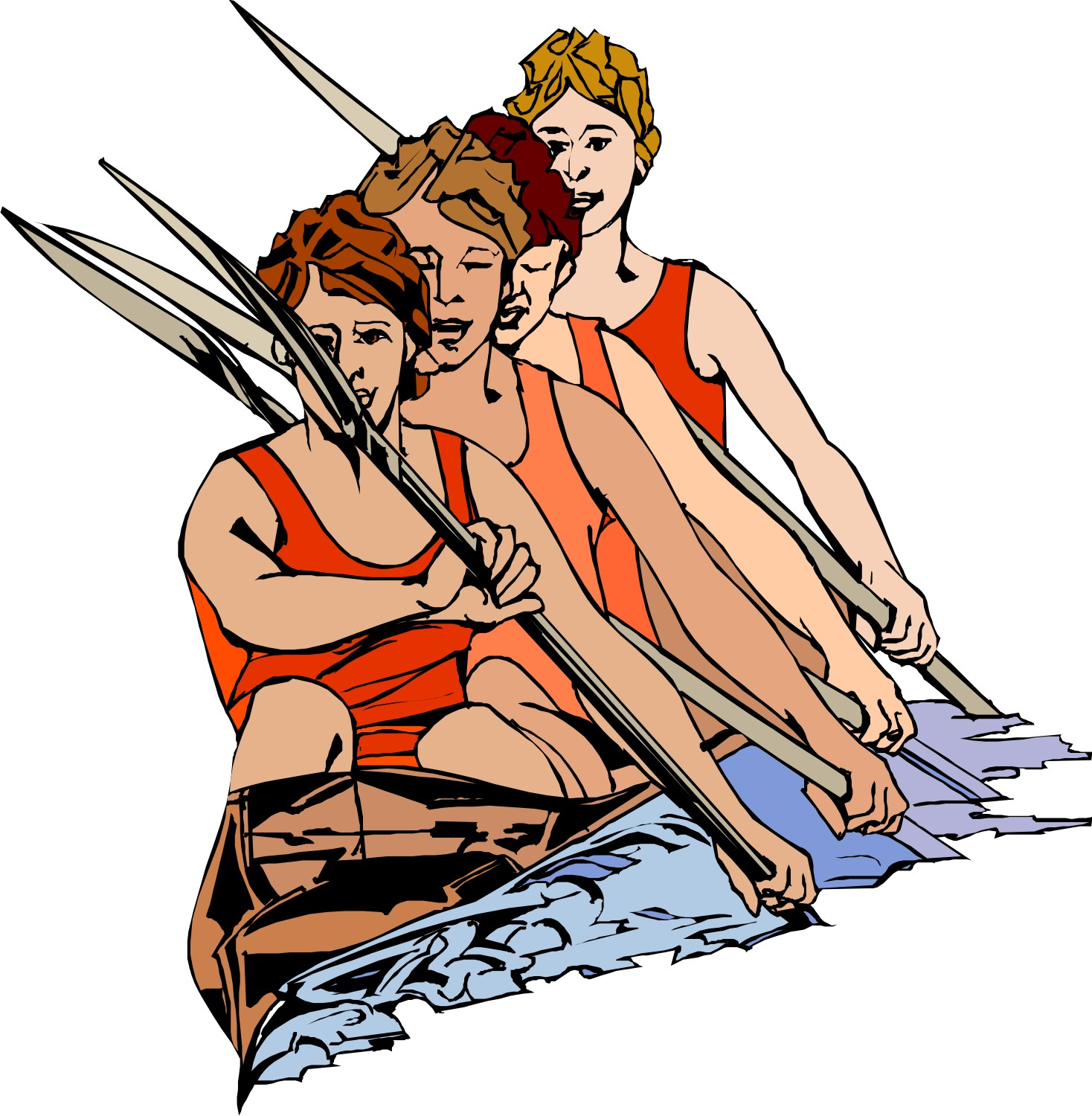 Free clipart rowing crew.