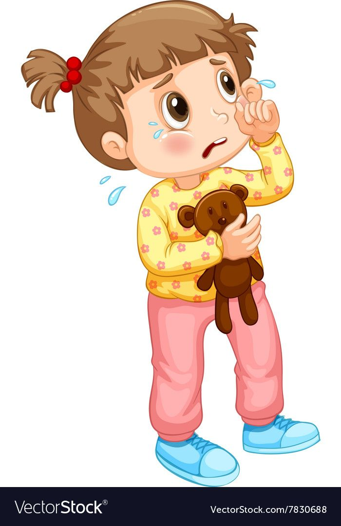 Little girl crying with tears. Download a Free Preview or.