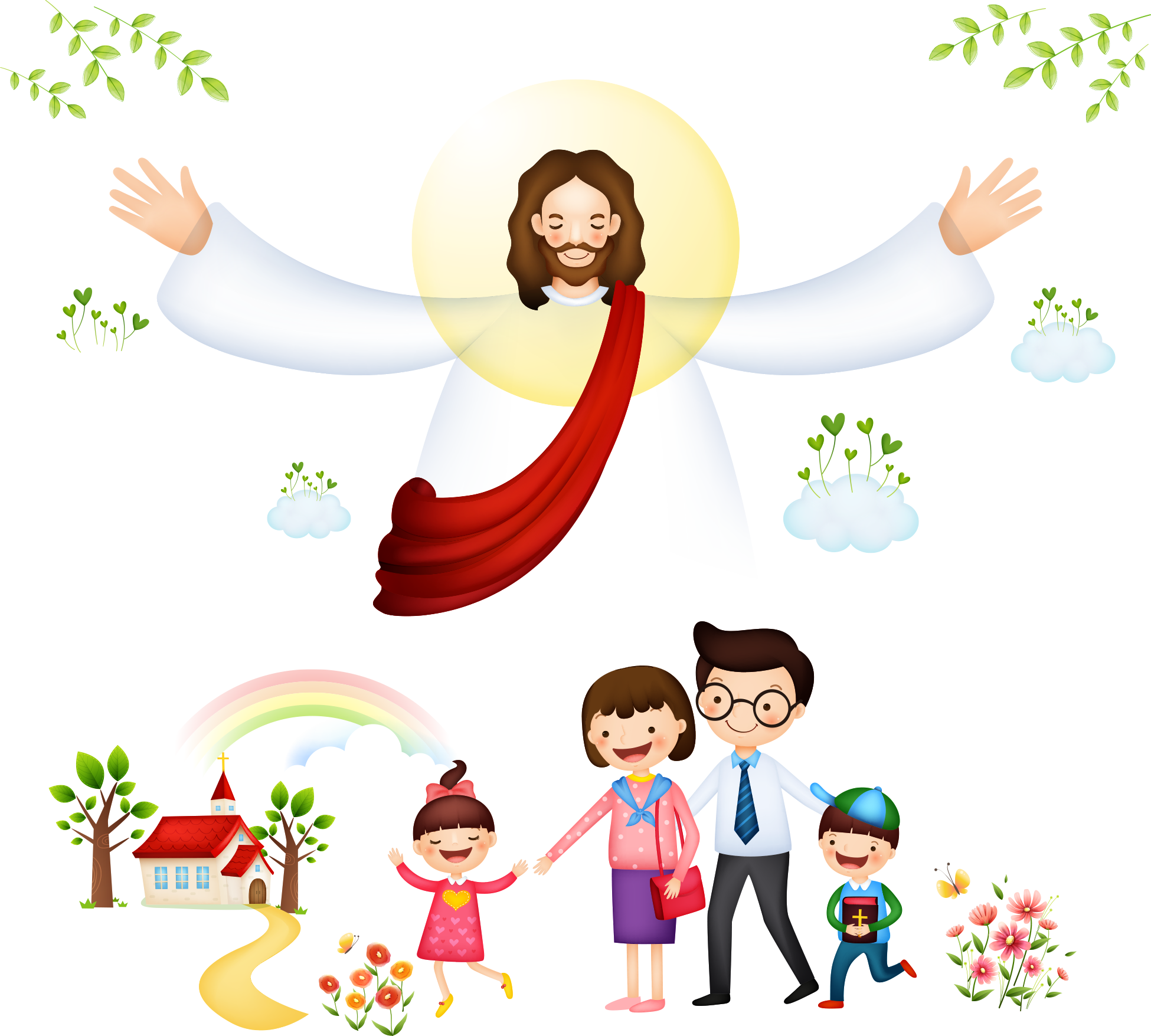 Bible Christianity Clip Art Jesus With Children.