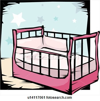 Baby Bed Clipart.