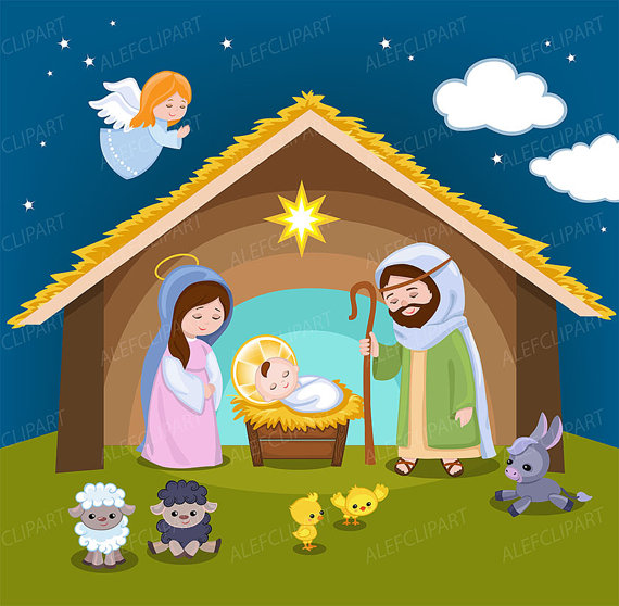 Nativity Clipart comes with Christmas scene clipart.