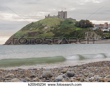 Stock Photo of Criccieth Castle in North Wales k20545234.