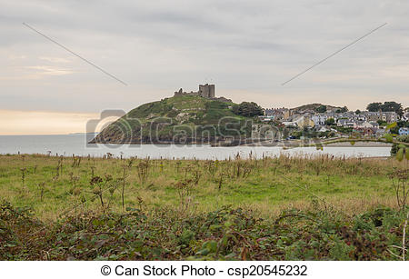 Stock Photos of Criccieth Castle in North Wales on the Anglesey.