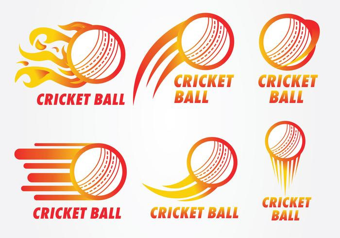 Cricket Ball Logo Vector Pack.