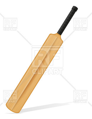 Diagonal cricket bat Vector Image #96199.