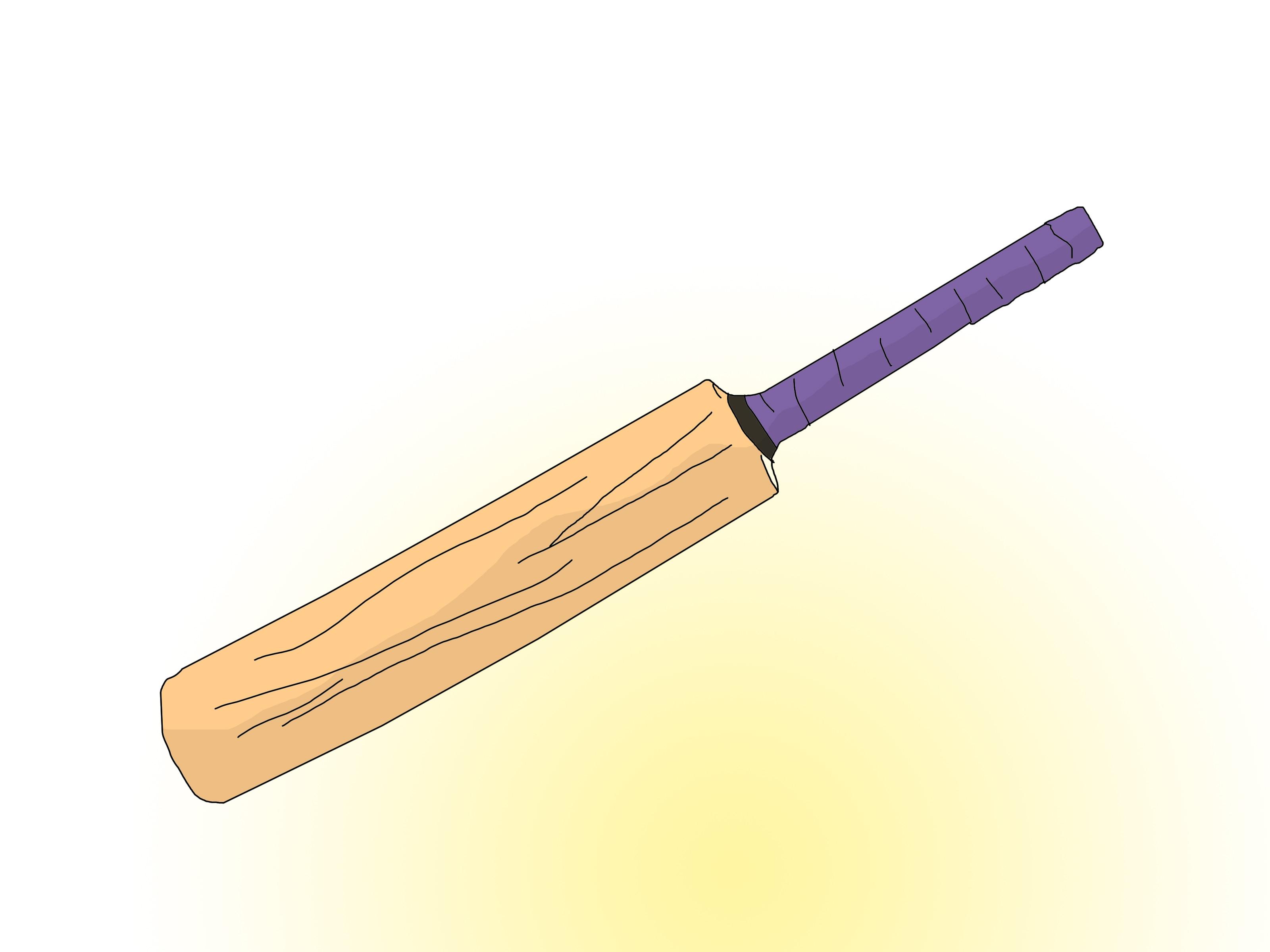 Cricket bat image clipart.