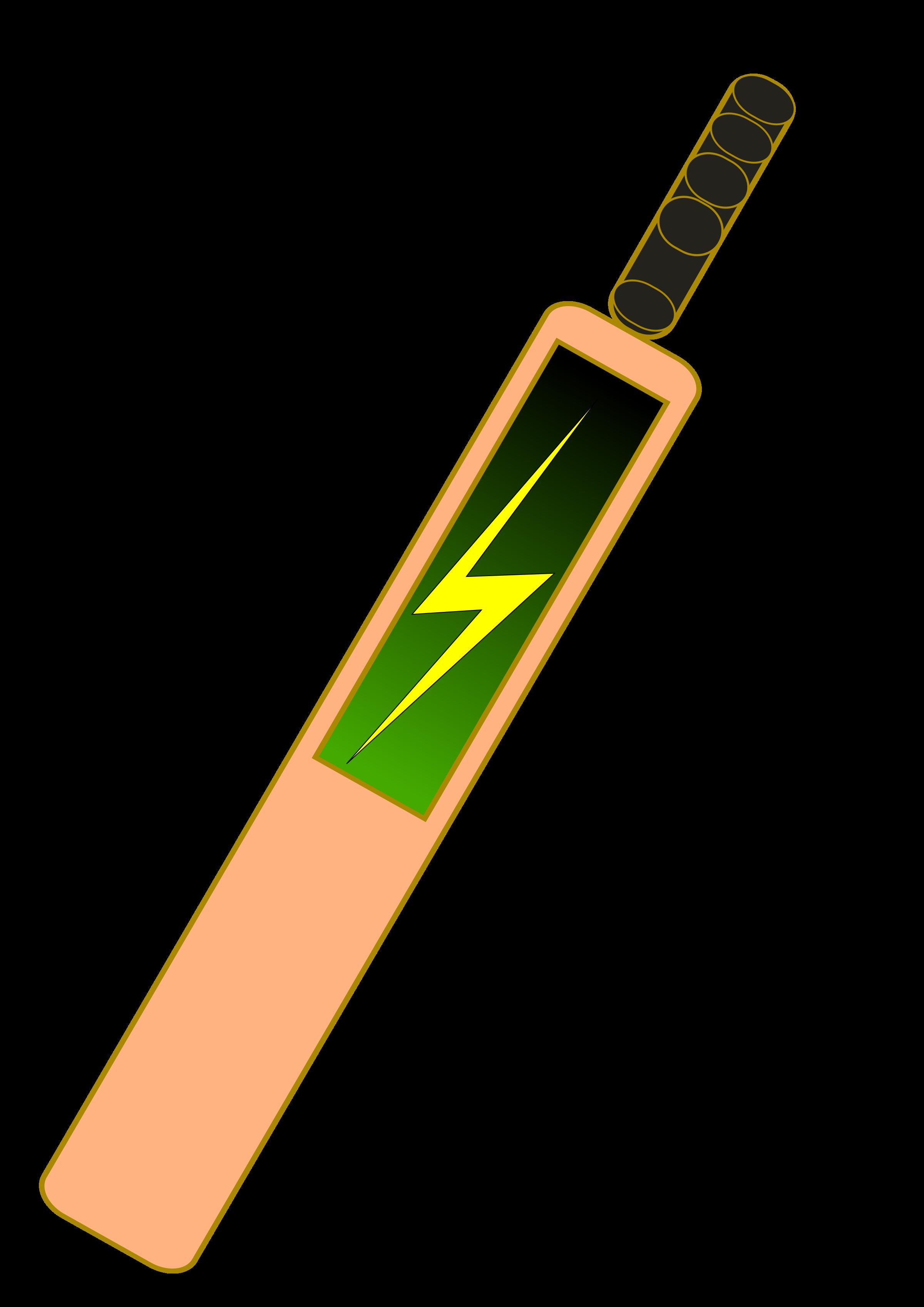 Clipart of cricket bat.