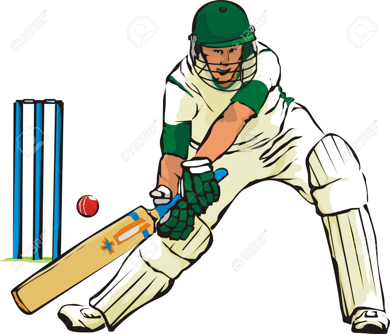 Sports Cricket Clipart.