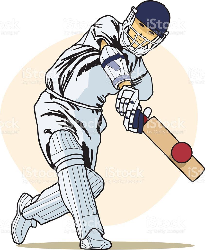 Cricket Batting Shots Clipart.