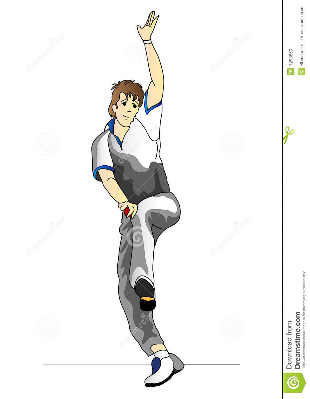 Cricket bowler clipart 9 » Clipart Station.