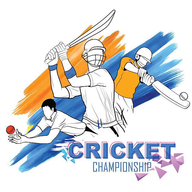 Best Cricket Illustrations, Royalty.