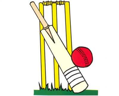 Cricket clipart bat and ball on.