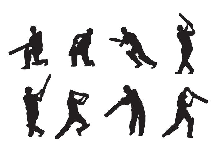 Cricket Player Vectors.