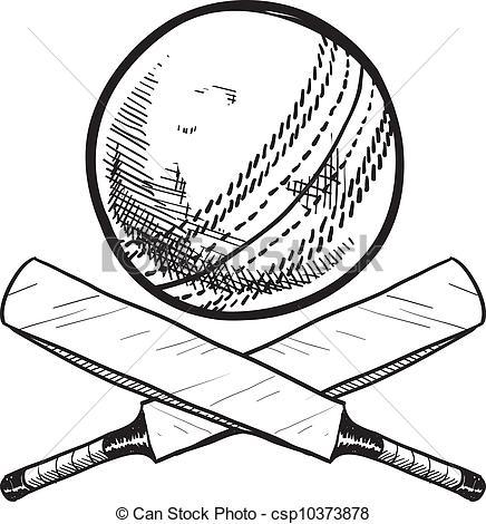 EPS Vectors of Cricket excitement sketch.