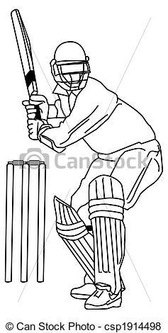 Cricket Drawings Clip Art.