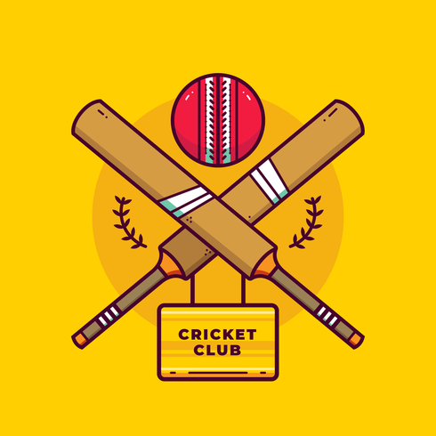 Cricket Logo Vector.