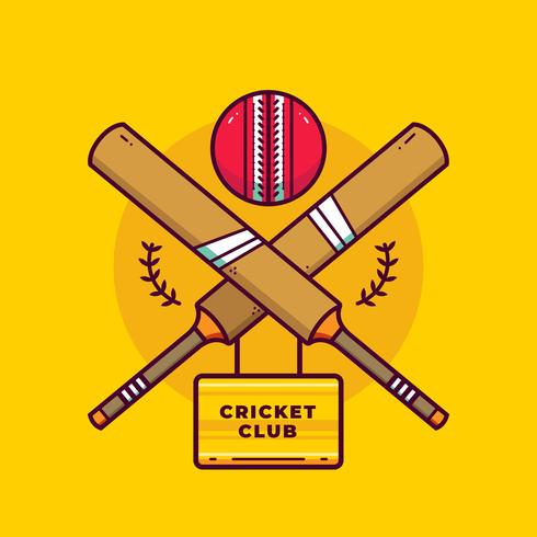 Cricket Logo Vector.