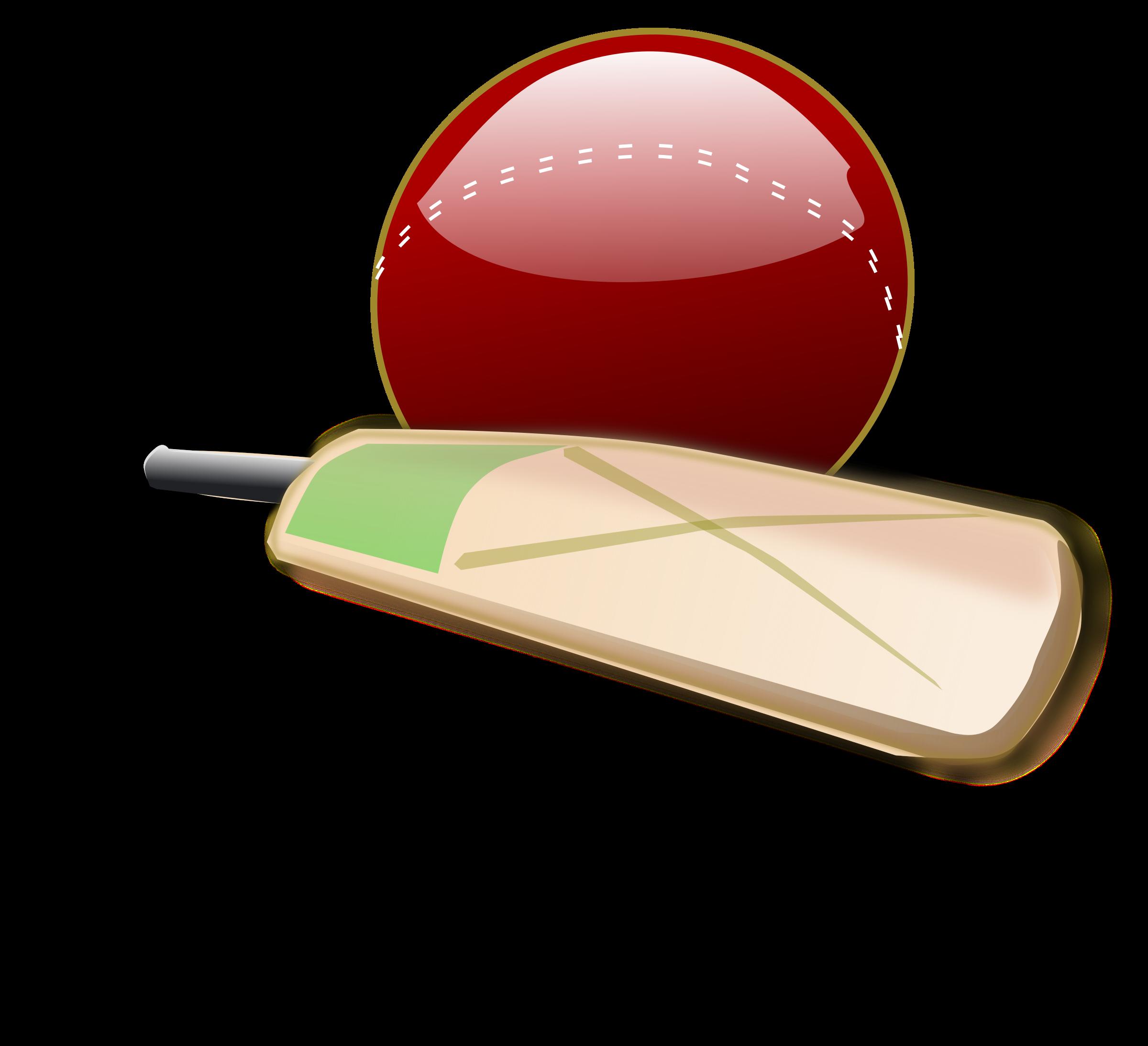 Cricket match clipart #2