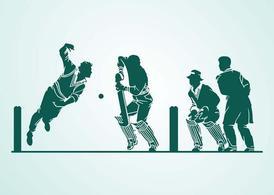 Cricket match clipart #15