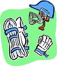 Cricket match clipart #5