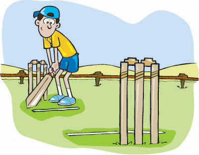 Cricket Pitch Clipart.