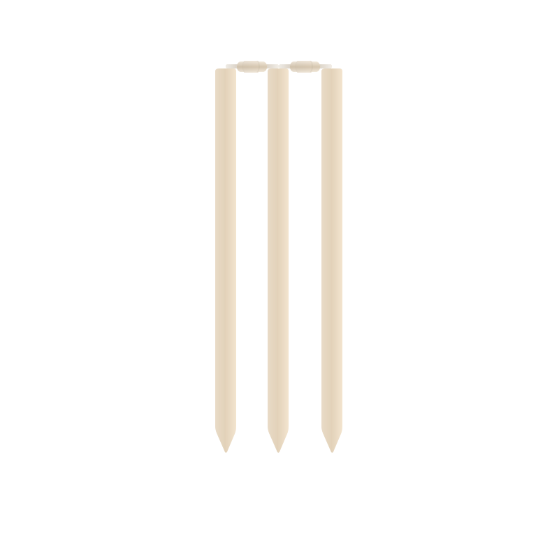 Free Clipart: Cricket Stumps and Rails.