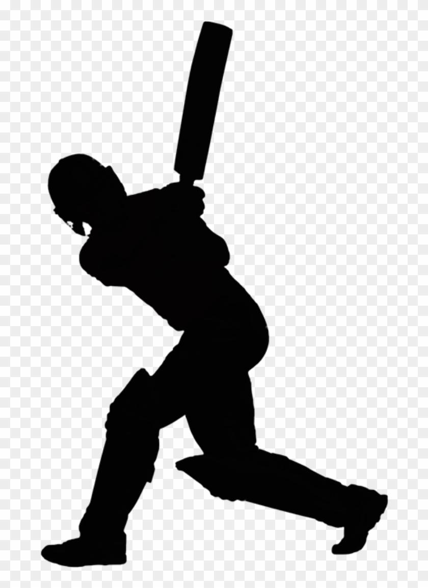 Cricket Batsman Vector Png.