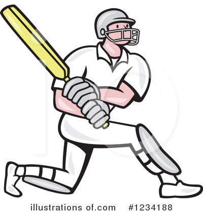 Cricket Player Clipart #1234188.