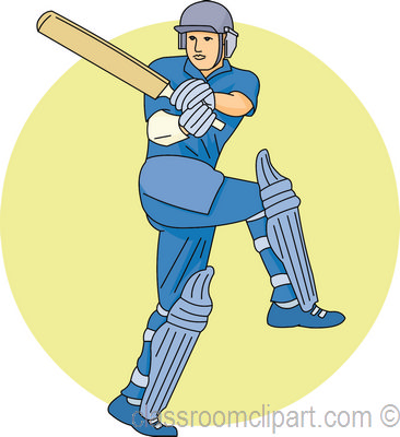 Cricketer clipart.