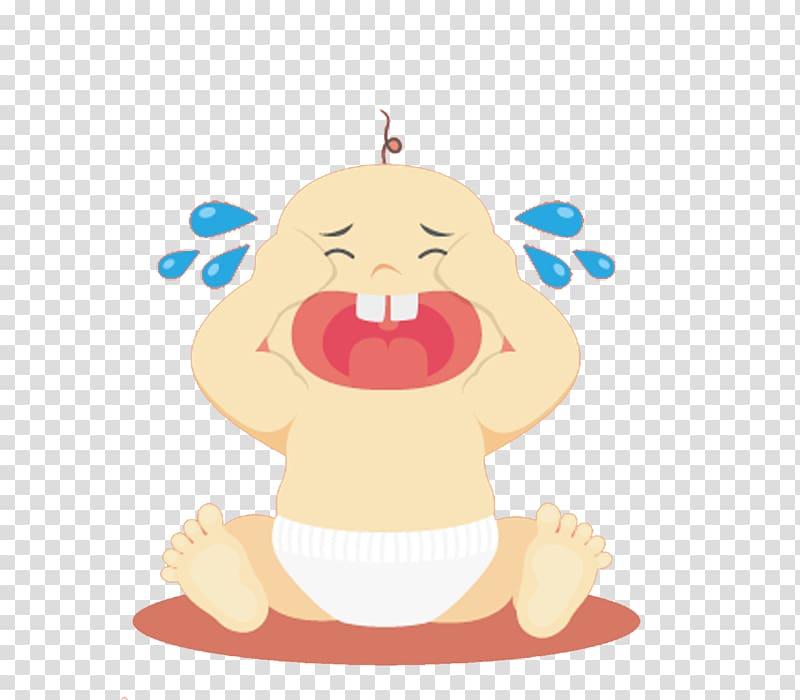 Infant Child Illustration, Cried baby boy transparent.