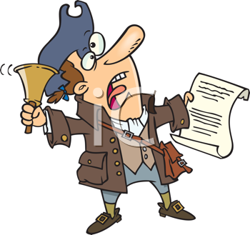 Royalty Free Clipart Image of a Town Crier.