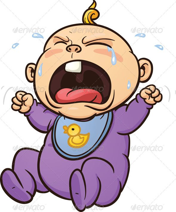 Crying Baby #GraphicRiver Cartoon crying baby. Vector clip.