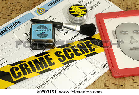 Stock Photography of Crime Lab k0503151.